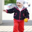 Walking baby — Stock Photo