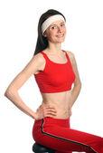 Mutlu genç kadın egzersiz — Stok fotoğraf