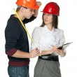 Successful architects in hardhats — Stock Photo #14089167