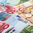 Euro banknotes and coins — Stock Photo #14089181