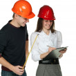 Successful architects in hardhats — Stock Photo #14089354