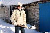 Enlèvement de la neige — Photo