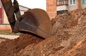 Pala de la excavadora de trabajo — Foto de Stock