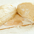 Sliced dough on the breadboard — Stock Photo