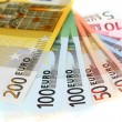 Euro banknotes, fan made of euro paper currency — Stock Photo