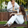 Beautiful romantic young couple in love — Stock Photo #14775251