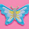 Artificial handmade butterfly — Stock Photo