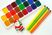 Set for children's painting — Stockfoto