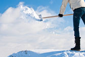 Snow removal shovel — Stock Photo