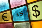 Euro versus dollar — Stock Photo