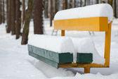 Bench under snow — Stock Photo