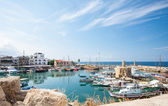 Kyrenia harbour, Cyprus beautiful sea bay — Stock Photo