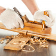 Working with wood plane — Stock Photo #17685721