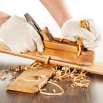 lavoro con piano in legno — Foto Stock #17685721