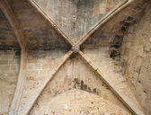 Fragment of Bellapais Abbey's interior — Stock Photo