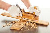 Praca z płaszczyzny drewna — Zdjęcie stockowe