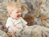 Gelukkig babymeisje — Stockfoto