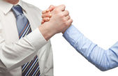 Arm wrestling of business — Foto Stock