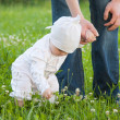 Baby girl in a summer park — Stock Photo #19932961