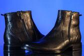 Black glossy man's shoes — Stock Photo