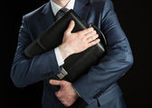 Businessman with briefcase — Stock Photo