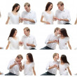 Romantic couple in love collage — Stock Photo