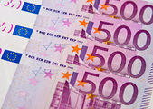 Five hundreds euro banknotes — Stock Photo