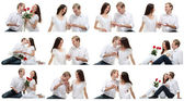Romantic couple in love collage — Stockfoto