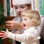 クリスマス ツリーの近く — ストック写真