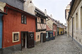Famous golden lane in Prague Czech Republic - 'zlata ulicka' — Stock Photo