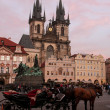 Church of Our Lady before Tyn in Prague - Stock Photo