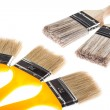 Group of construction paintbrushes - Stock Photo