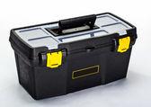 Black construction toolbox — Stock Photo