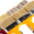 Many construction paintbrushes - Stock Photo