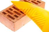 Espátula plástica para colgar wallpapers — Foto de Stock