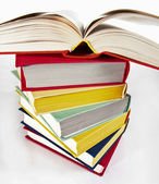 Multicolored stacked books — Stock Photo