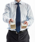 Businessman offering money to you — Foto de Stock