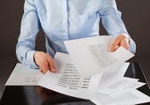Business analyst working with data — Stock Photo