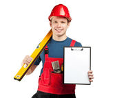Advertising of construction services — Stock Photo
