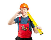 Contact us! Construction services — Stock Photo