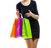 Woman doing shopping — Stockfoto