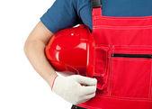 Industrial worker in uniform — Stock fotografie