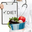Doctor prescribing diet — Stock Photo