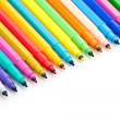 Fragment of opened colorful markers — Stock Photo #28717821