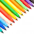 Opened colorful markers — Stock Photo