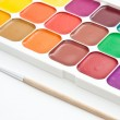 Stock Photo: Multicoloured watercolour paint