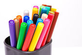 Colorful closed markers — Stock Photo
