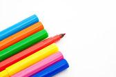 Marcatori colorati chiusi — Foto Stock