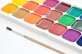 Multicoloured watercolour paint — Stock Photo