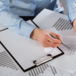 Stock Photo: Business analyst working with data